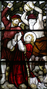 """The Stoning of Stephen"" Stain glass window, Trinity Church, Boston"