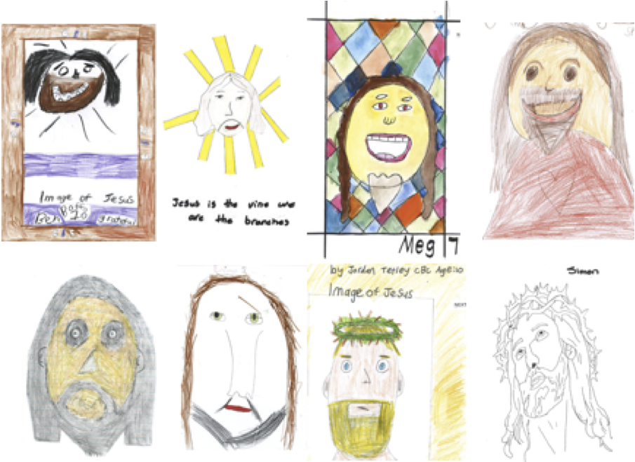 Faces of Jesus - 8 child artists