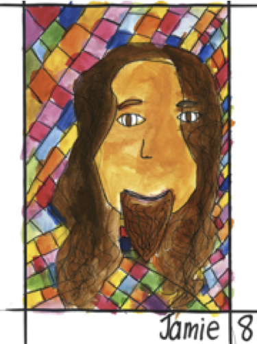 Contemplate the Face of Jesus,  a project by the children and youth of the  Adelaide Catholic Cathedral Parish, 2012. Artist: Jamie, age 8