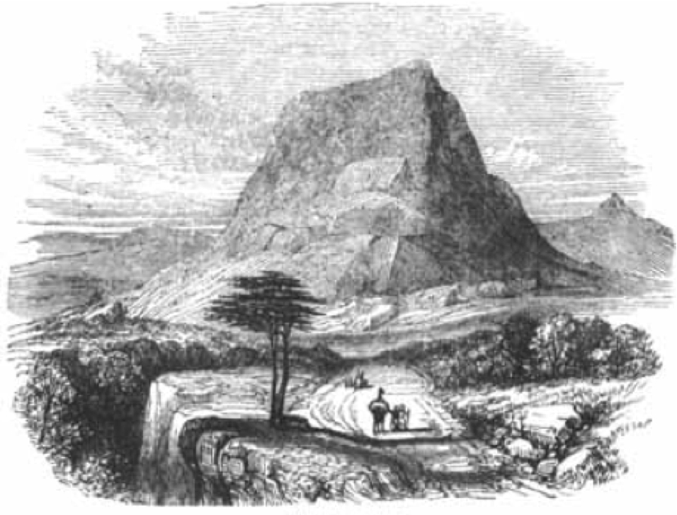 Mt. Tabor, 19th C engraving