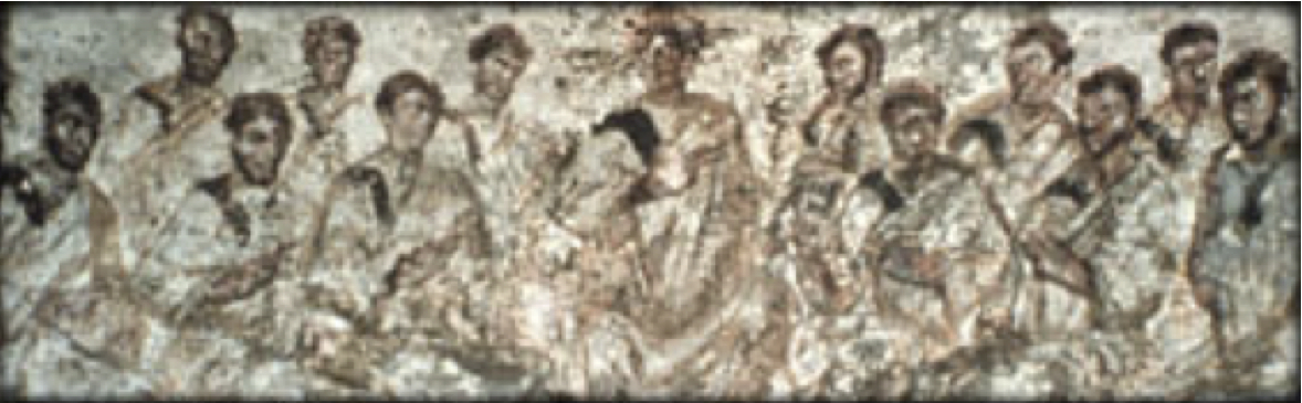 """Jesus' disciples"" – early catacomb painting"