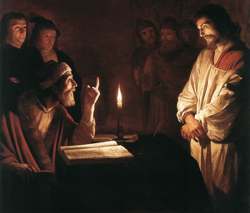 """Christ before the High Priest,"" Gerrit van Honthorst (1617)"