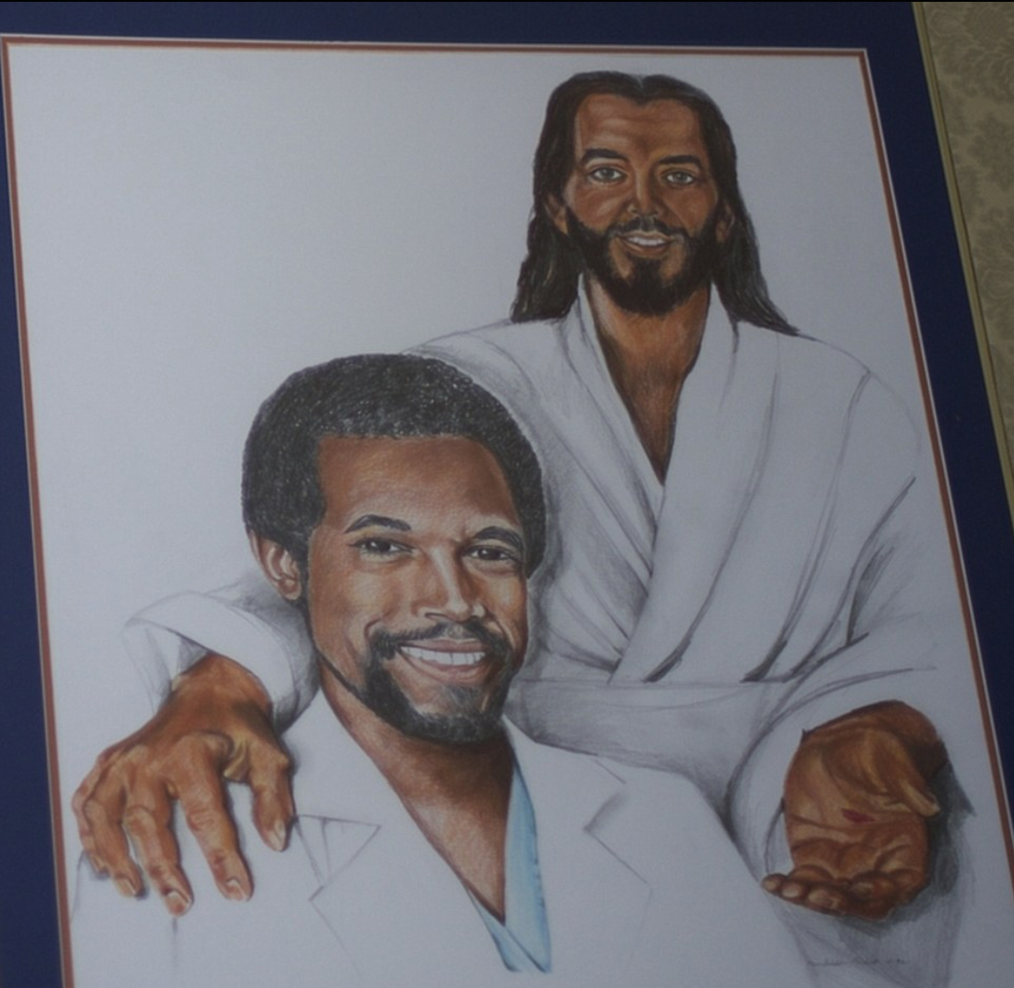 Portrait of Ben with Jesus in Ben Carson's Maryland home.