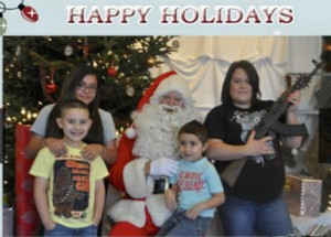 At a recent charity event at a shooting range near Atlanta, Georgia, kids got to pose with Santa and an AK-47.