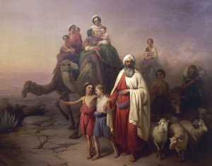 """March of Abraham, The"" The March of Abraham, painting by József Molnár, 19th century; in the Hungarian National Gallery, Budapest."